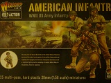 Bolt Action Box> American US Infantry - 25 Plastic Troops